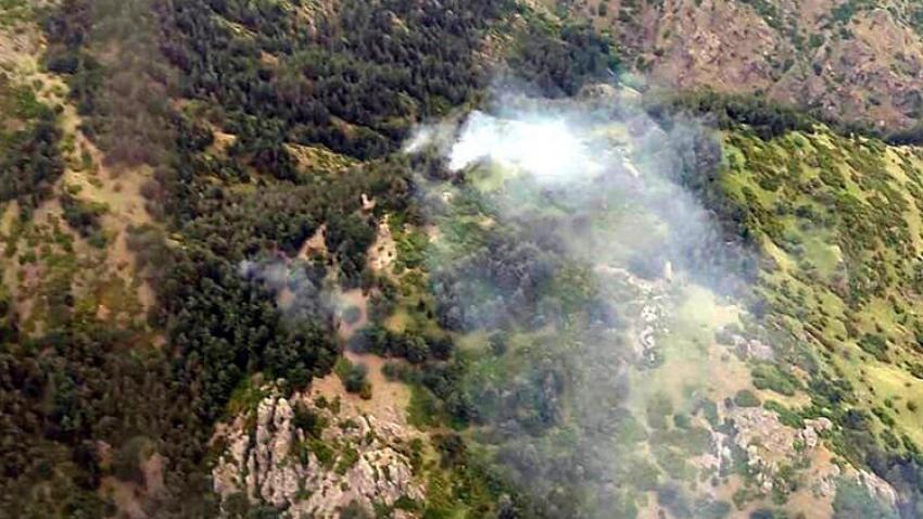 Spil Dağı Milli Parkı'nda yangın