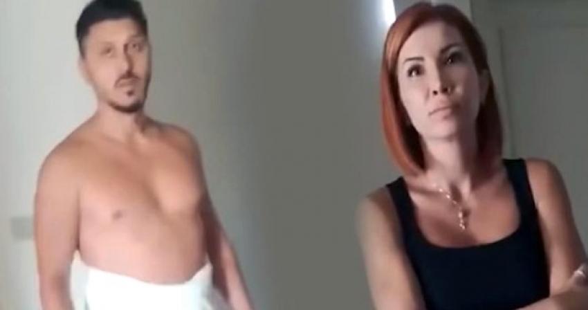 Evli kadınla otel odasında basıldı