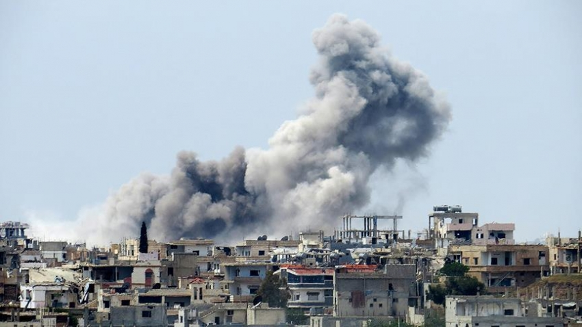 YPG Mare şehrini bombaladı!
