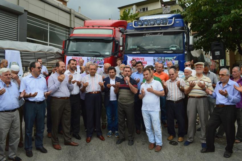 Bursa'dan Suriye'ye 7 TIR yardım