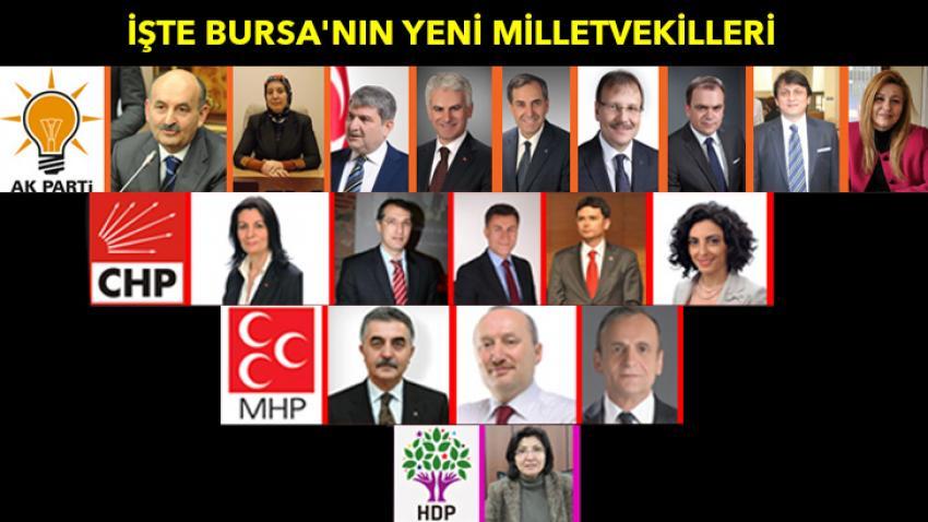 İşte Bursa'nın yeni milletvekilleri