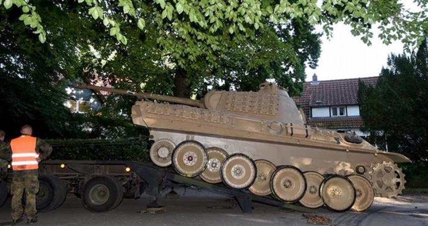 Bodrumdan tank çıktı