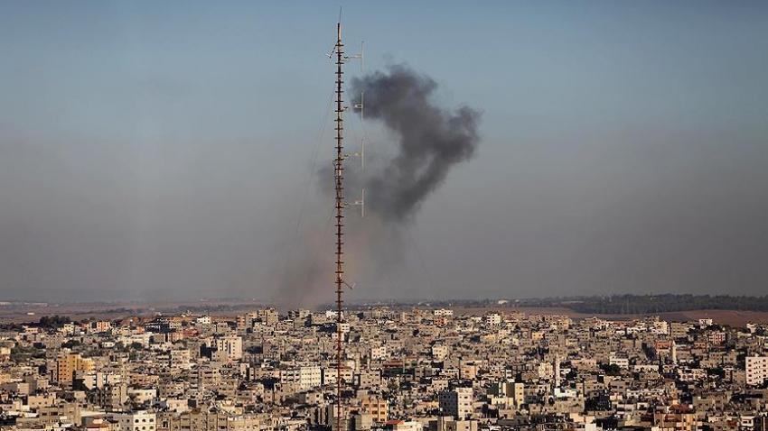 İsrail Gazze'de el-Kassam Tugayları'nın mevzilerini vurdu