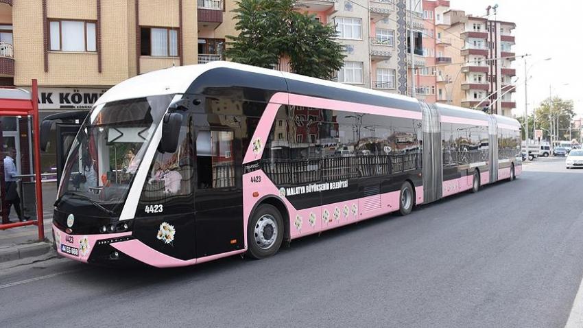Malatya'da 'pembe trambüs' uygulaması başladı