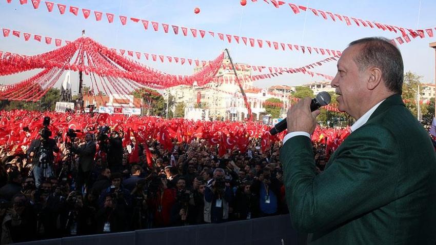 """Erdoğan: """"Tüm terör kamplarını yerle bir edeceğiz"""""""
