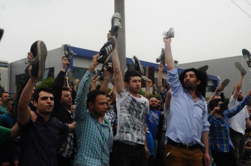Bursa'da işçi eyleminde 10 gözaltı!