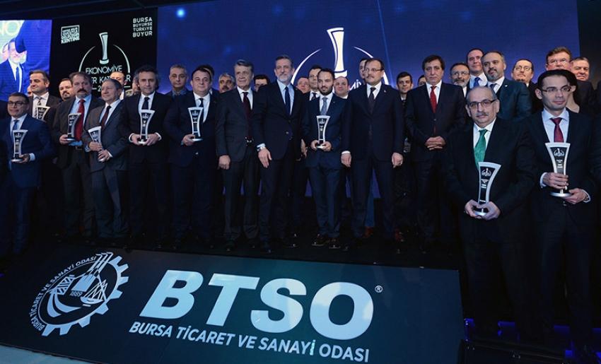Bursa iş dünyasına 8 ayrı kategoride 87 ödül