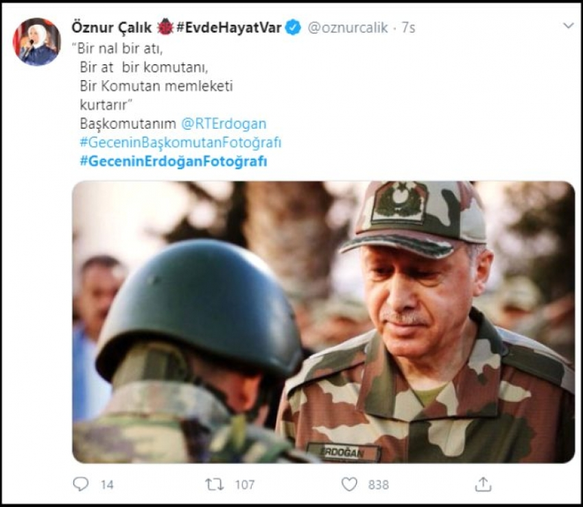'Gecenin Erdoğan fotoğrafı' Twitter'da TT oldu!