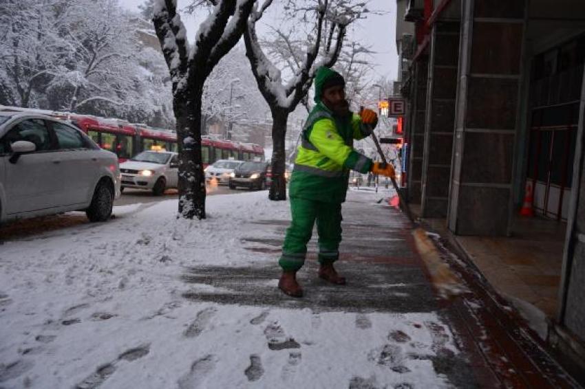 Bursa'dan kar manzaraları