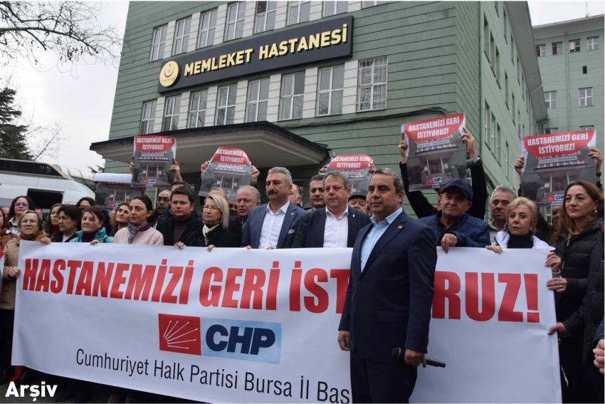"""""""Bursa'da kapatılan hastanelerin yeniden açılması için tek adım bile atılmadı"""""""