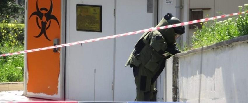Hastane bahçesinde bomba paniği
