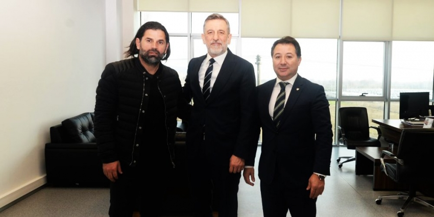 Başkan ve Üzülmez'den Burkay'a ziyaret