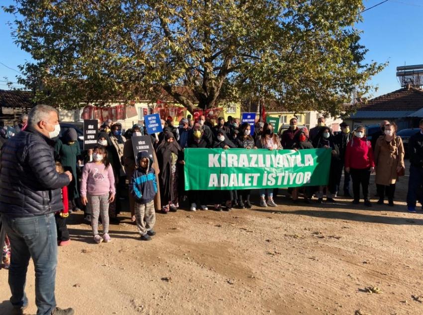 Bursa'da Kirazlıyaylalılar adalet istiyor