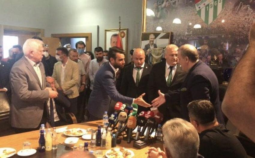 Bursaspor'da devir-teslim töreni yapıldı