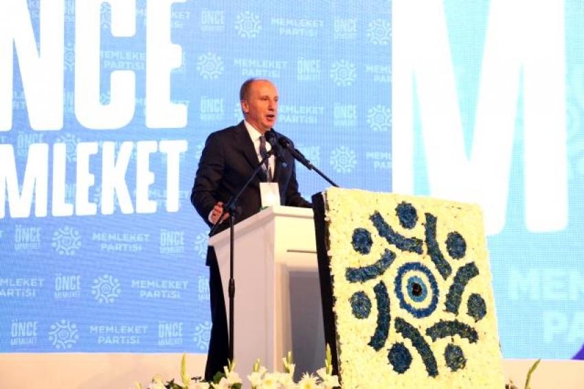 Muharrem İnce, cumhurbaşkanlığı seçiminde Erdoğan'a rakip olacağını duyurdu