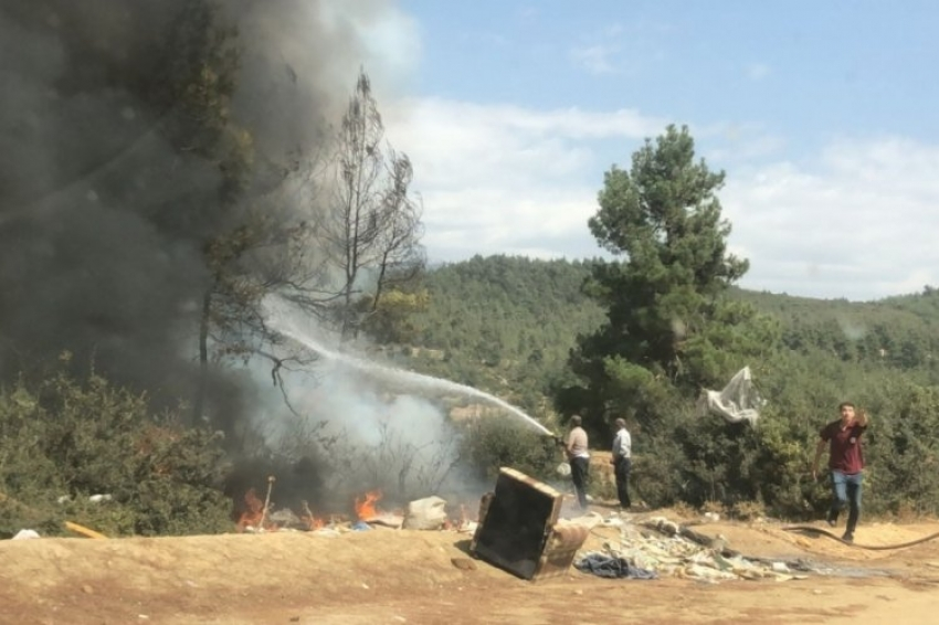 Bursa'nın iki bölgesinde yangın!
