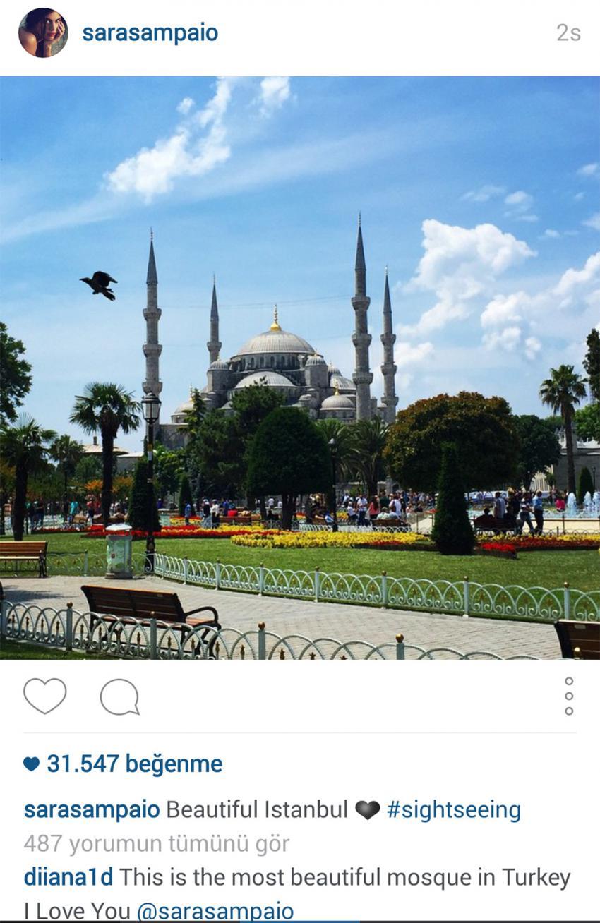Sara Sampaio'dan İstanbul paylaşımı
