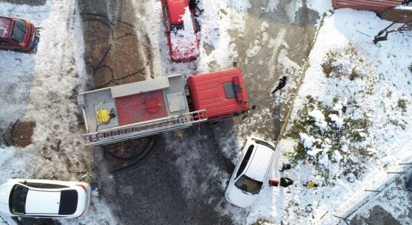 Bursa'da hatalı park yüzünden bir apartman yanacaktı