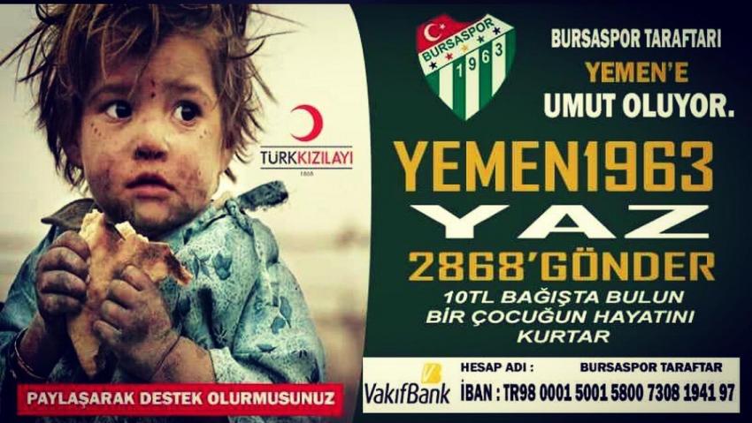 Bursasporlu taraftarlardan Yemen için kampanya!