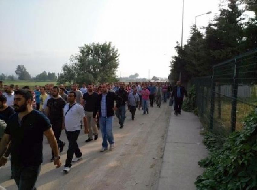Bursa'da cam işçilerinden eylem!