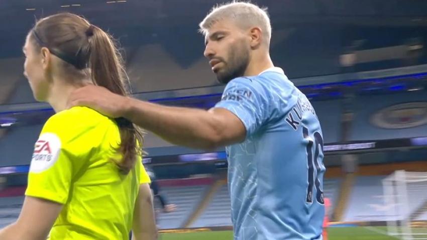 Futbol maçında kadın hakeme taciz