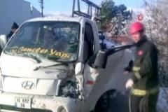 Yollar buz pistine döndü, kaza üstüne kaza oldu