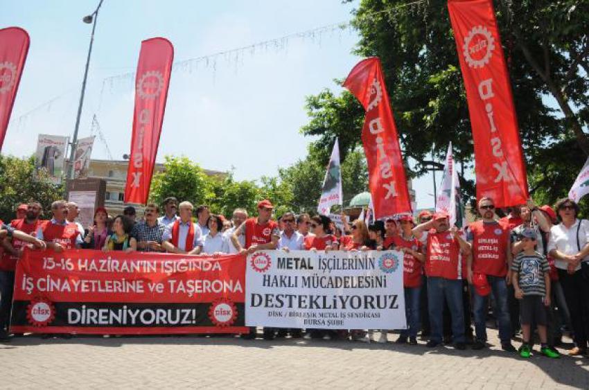 1970'deki büyük işçi direnişinin 45'inci yılında Bursa'da yürüdüler!