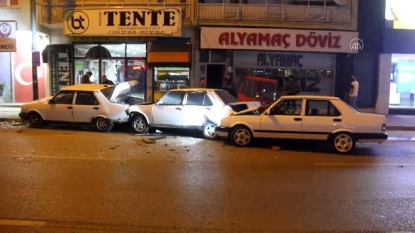 Bursa merkezde zincirleme kaza