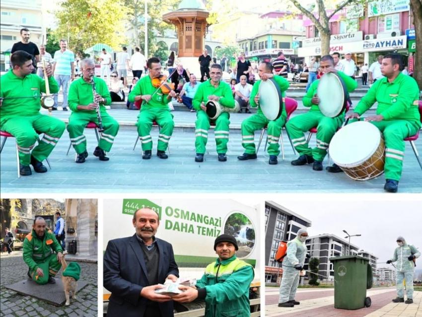 Osmangazi Belediyesi'nin temizlik kahramanları